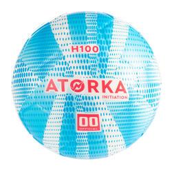 Bola de Andebol H100 Criança T00 Azul/Branco