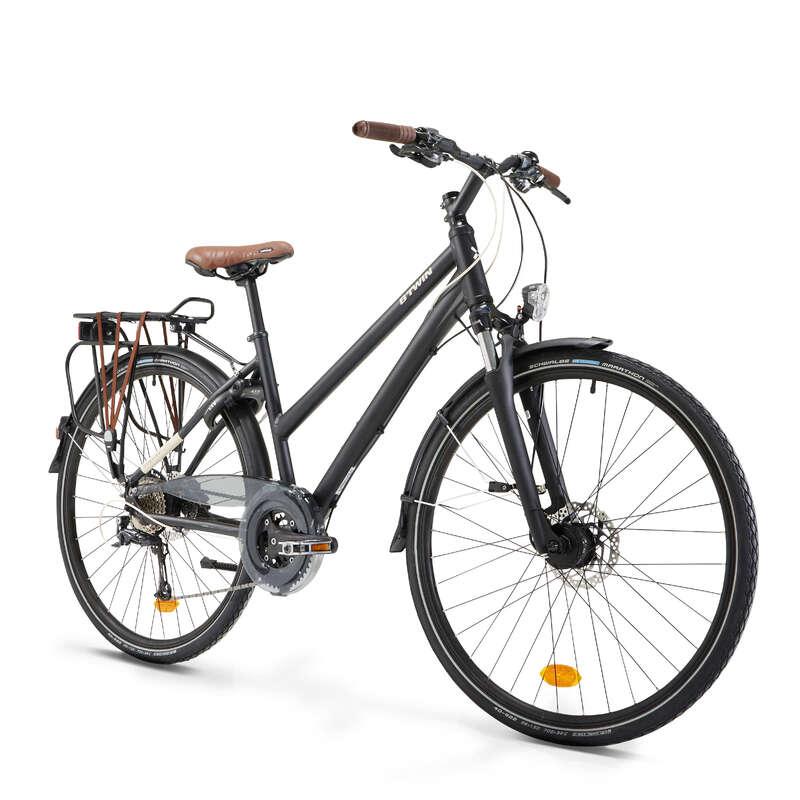 LONG DISTANCE URBAN CYCLING Cycling - Hoprider 900 Urban Hybrid Bike - Low Frame B'TWIN - Bikes