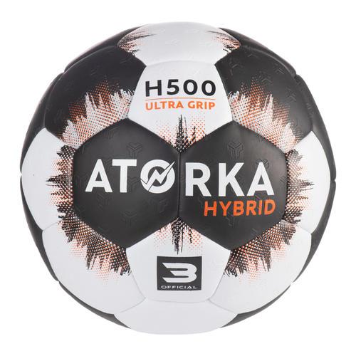 Ballon de handball homme H500 T3 noir/gris
