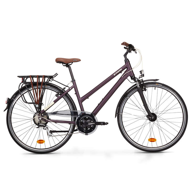 LONG DISTANCE URBAN CYCLING Cycling - Hoprider 500 Urban Hybrid Bike - Low Frame ELOPS - Bikes