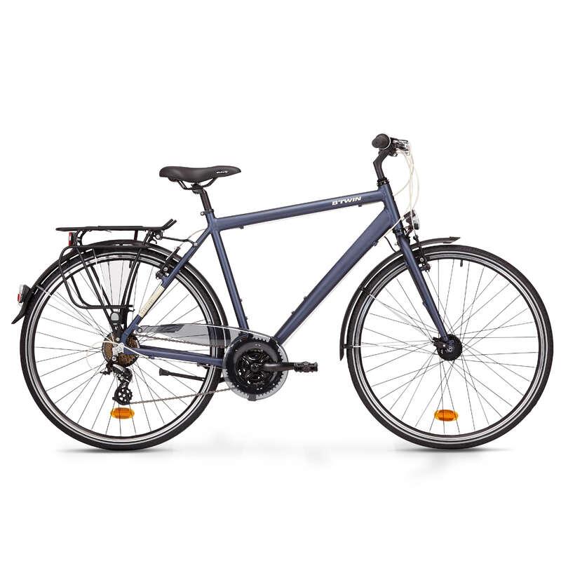 LONG DISTANCE URBAN CYCLING Cycling - Hoprider 100 Urban Hybrid Bike ELOPS - Bikes