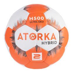 Handbal voor kinderen hybride H500 maat 2 oranje/grijs