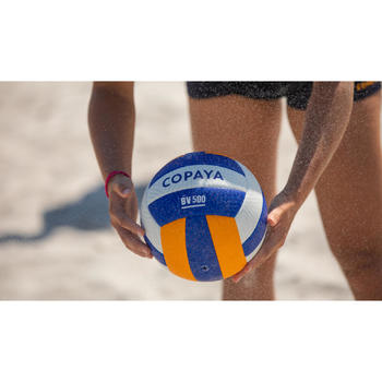 Ballon de beach-volley BVBH500 jaune
