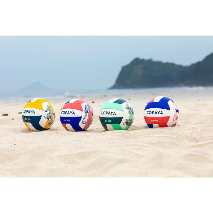 Ballon de beach-volley BVBS100 violet et corail