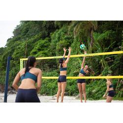 Beachvolleybalshort dames BVSH500 blauw/geel