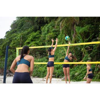 Short de beach-volley femme BVSH500 bleu et jaune