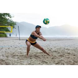 Ballon de beach volley BV900 FIVB vert et jaune