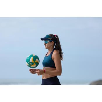 Zonneklep voor beachvolleybal volwassenen BVV900 groen