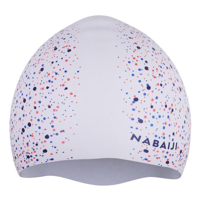 500印花矽膠防潑水泳帽
