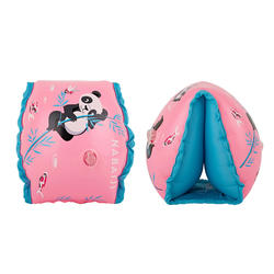 "kids's Swimming Armbands 15 -30 kg Fabric interior Pink ""PANDAS"" print"
