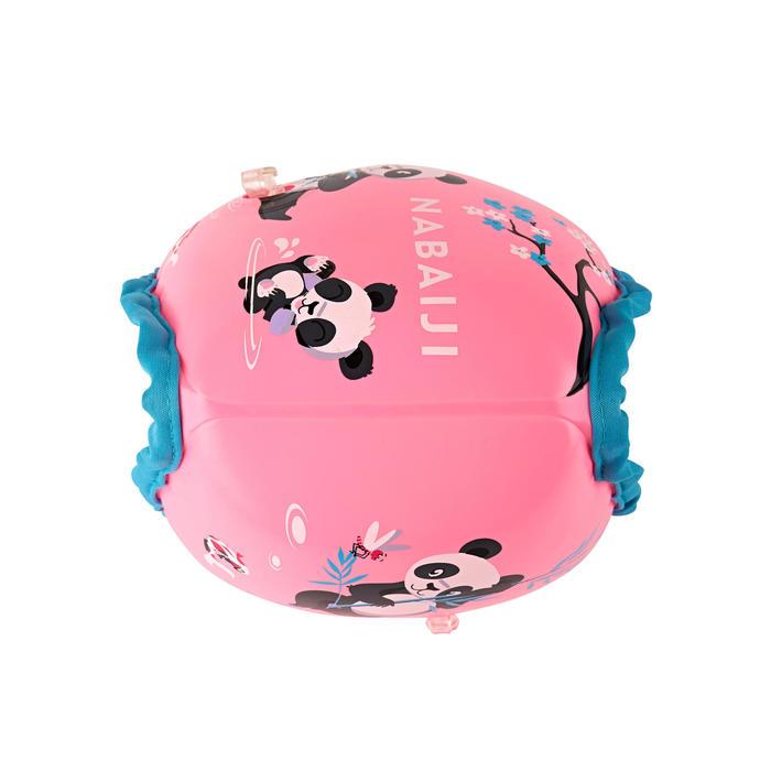 15至30 kg內層布料兒童游泳臂圈-粉紅色「熊貓」印花