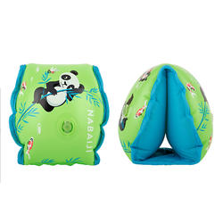 "kids's Swimming Armbands 15 -30 kg Inner Fabric Green ""PANDAS"" print"