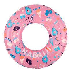 6-9歲兒童用印花充氣式泳圈65 cm - 粉紅色
