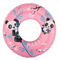 "Inflatable swimming buoy 51cm pink printed ""PANDAS"" for children from age 3 to 6"