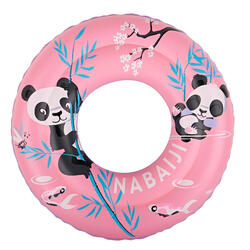 Inflatable swimming buoy 51cm pink printed _QUOTE_PANDAS_QUOTE_ for children from age 3 to 6