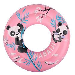 Opblaasbare zwemband 51 cm roze met pandaprint voor kinderen 3-6 jaar