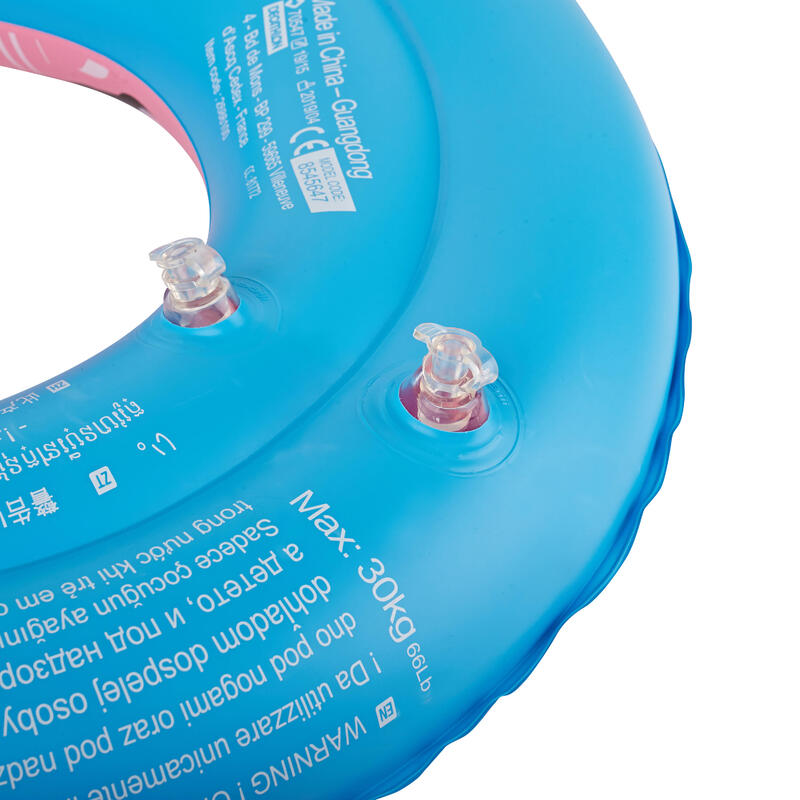 """Inflatable swimming buoy 51cm pink printed """"PANDAS"""" for children from age 3 to 6"""