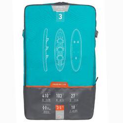 Opblaasbare toerkajak met hogedrukbodem Drop Stitch X100+ voor 3 personen