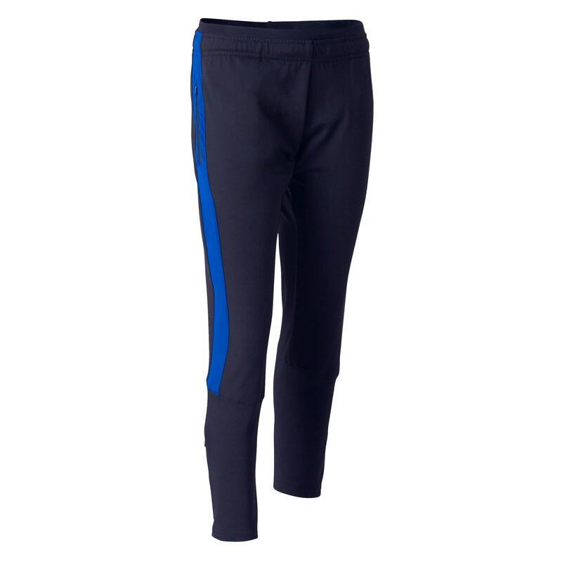 Pantalon d'entraînement de football enfant TP 500 [BAS COURTS] bleu et marine
