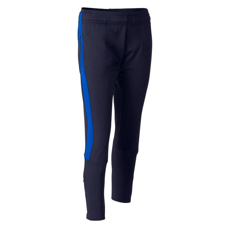 DĚTSKÉ OBLEČENÍ DO CHLADNÉHO POČASÍ Fotbal - DĚTSKÉ TEPLÁKY TP500 MODRÉ KIPSTA - Fotbalové oblečení
