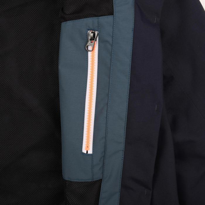 女款航海防水外套Sailing 300-軍藍色/灰色