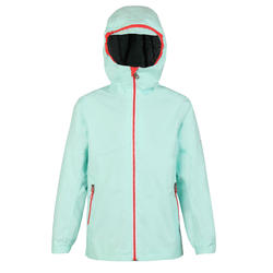 Kid's sailing waterproof jacket SAILING 100 - Mint