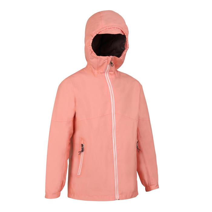 兒童款航海防水外套Sailing 100-粉紅色