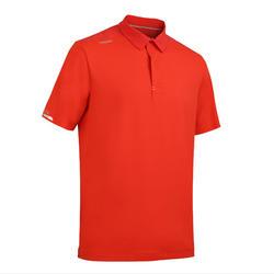 男款航海短袖Polo衫Race 500-紅色