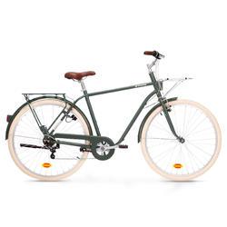 Bici città ELOPS 520 telaio alto verde militare