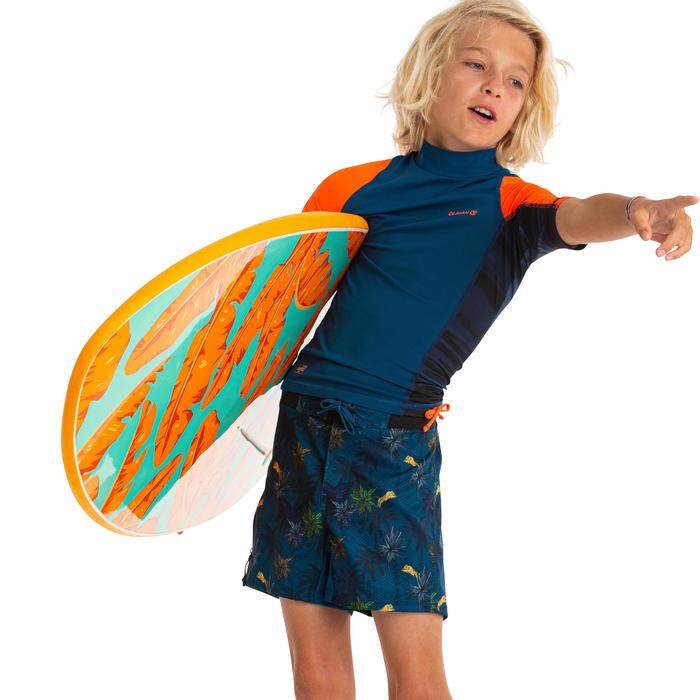 Uv-werende rashguard voor surfen jongens 500 DKT-A07A