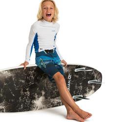 UV shirt kind met lange mouwen 500 wit blauw