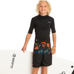 Bañador Niño Surf Olaian 500L Tween Lotus Black Largo