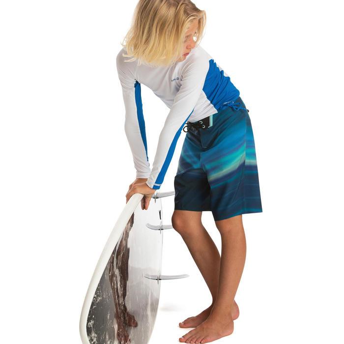UV-Shirt Langarm UV-Top 500 Kinder Jungen weiss