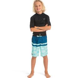 衝浪褲TWEEN100L-層疊款藍色