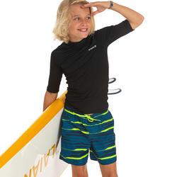 Bañador Niño Surf Olaian 100 Tween Line Up Petróleo