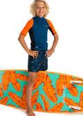 Fiú boardshort Strand, szörf, sárkány - Tinédzser boardshort 500-as  OLAIAN - Bikini, boardshort, papucs
