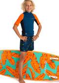 TOPY NA OCHRANU PŘED SLUNCEM A CHLADEM Surfing a bodyboard - TRIČKO UVTOP 500 S BOY OLAIAN - Plavky a trička s UV ochranou
