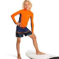 UV shirt kind met lange mouwen 500 Oranje/Rood