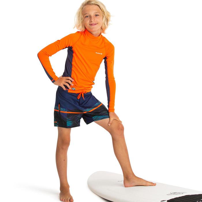 Uv-werende rashguard met lange mouwen voor surfen jongens 500 DKT-A27A