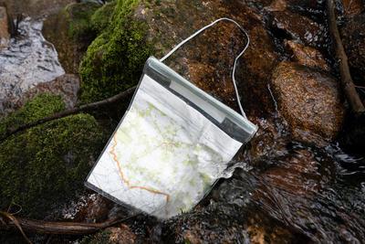 Portamapas para Montaña Y Trekking flexible Geonaute Carreras De Orientación