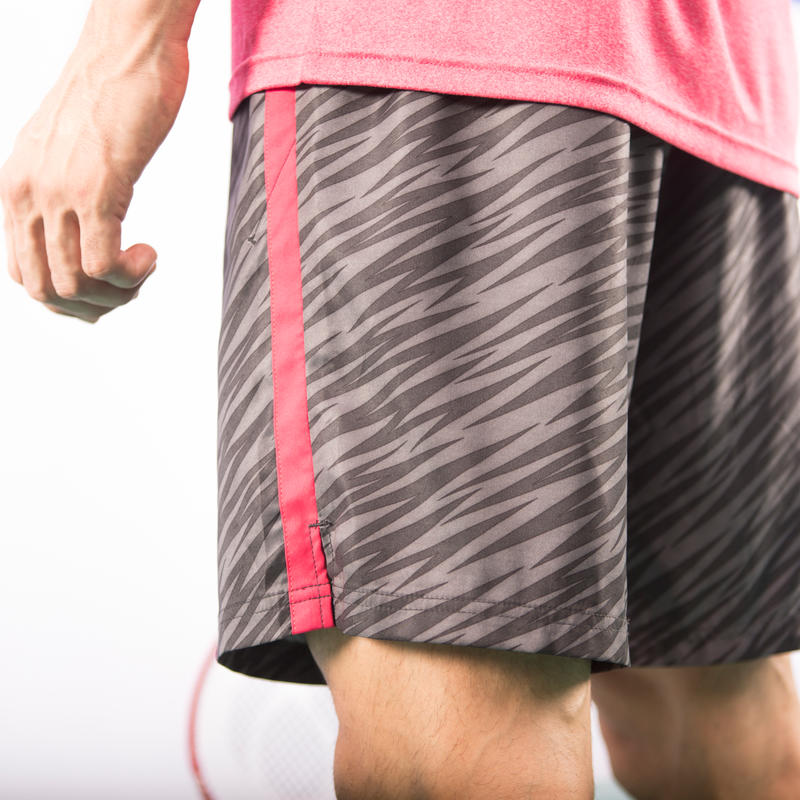 Soft 500 Padel Tennis Badminton Squash Table Tennis Shorts - Grey Graphics