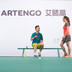 Artengo dames-T-shirt Soft Graph voor tennis, badminton, tafeltennis, padel grn - 181906