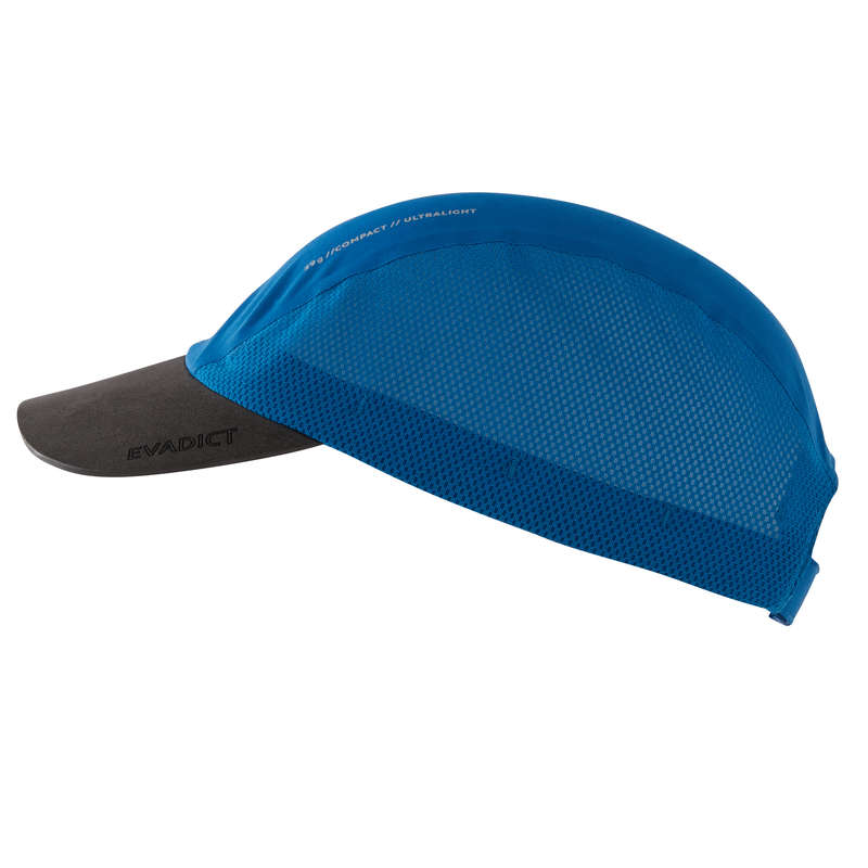 TRAIL RUNNING EQUIPMENT Trail Running - LIGHTWEIGHT TRAIL CAP BLUE KALENJI - Trail Running