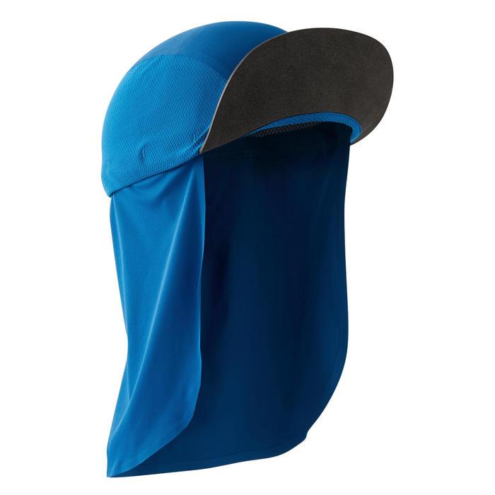 Lichte modulaire trailpet met nekbeschermer blauw