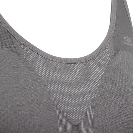 Classic Running Padded Crop Top - Grey