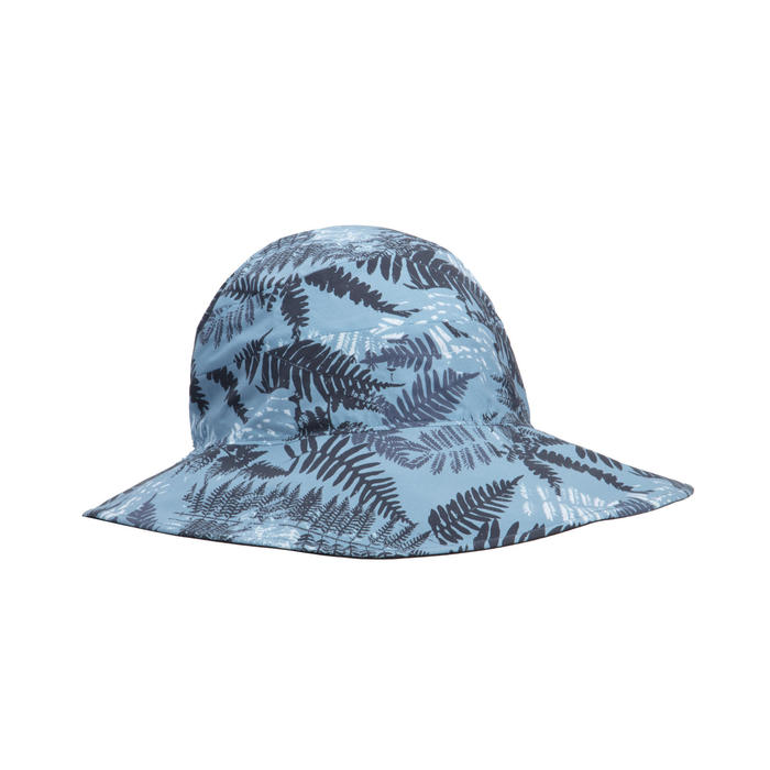 Ventilated and ultra-compact mountain trekking hat - TREK 100 - Blue