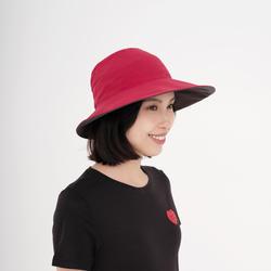 通風、極輕量登山健行帽TREK 100-粉紅色/碳灰色