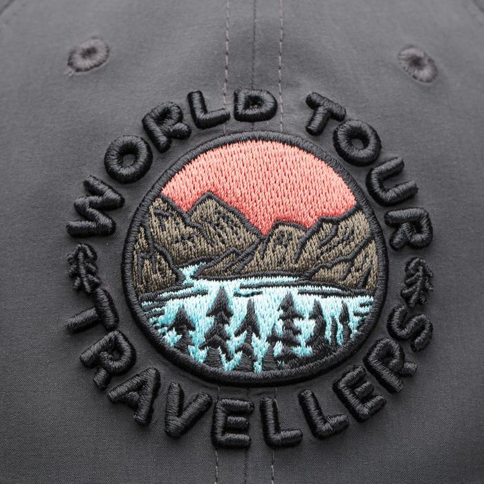 登山健行透氣帽Trek 500 - 碳灰色
