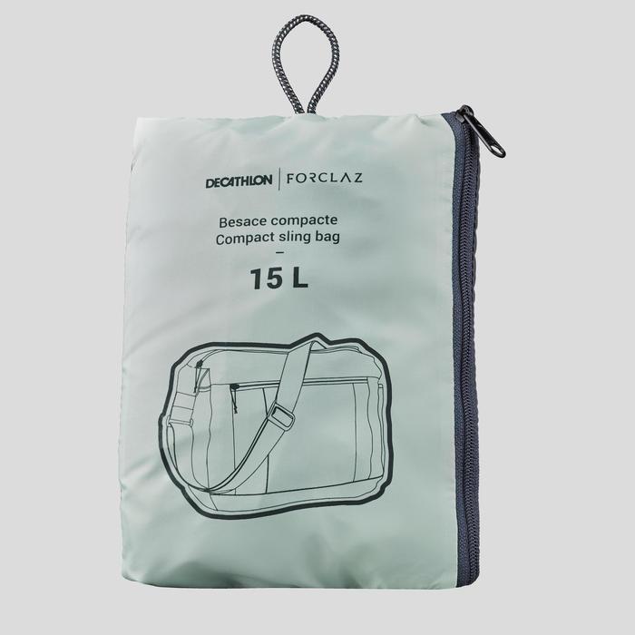 Besace compact 15 litres trek voyage | TRAVEL 100 kaki