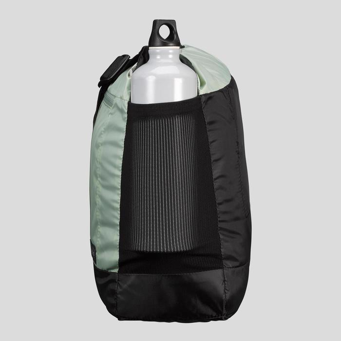 Compact 15 litre trekking travel messenger bag TRAVEL 100 - Khaki
